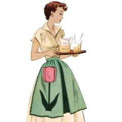 apron clad housewife