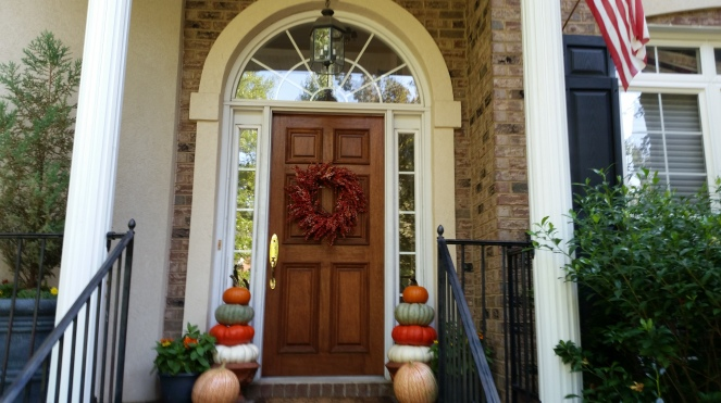 autumn-front-door--On Board With The Gourd--How To Preserve And Display Pumpkins